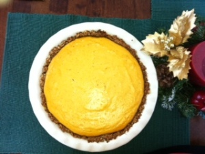 A delicious Pumpkin Pie - An American Tradition