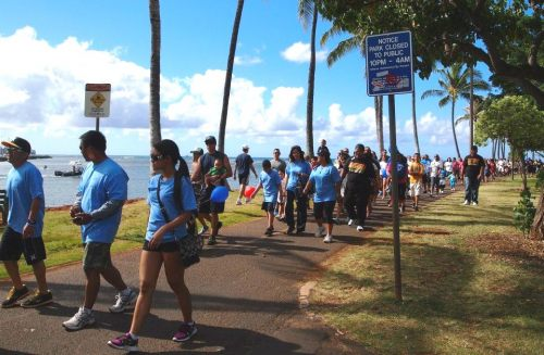 Ala Moana Beach Park in Honolulu on Saturday, April 21st, 2012 for the 7th annual Hawaii Walk Now for Autism Speaks
