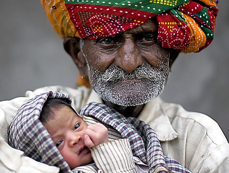An Older Father and Child
