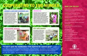 Buy this placemat to end hunger program by Church World Service CWS - What can you do? Order Online or call 1-800-297-1516