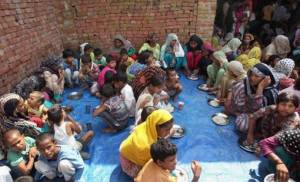 Hunger: No obesity exists among the displaced citizens of the world